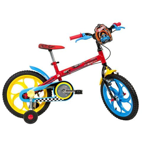 Imagem de Bicicleta Infantil Caloi Aro 16 Hot Wheels com Rodinhas