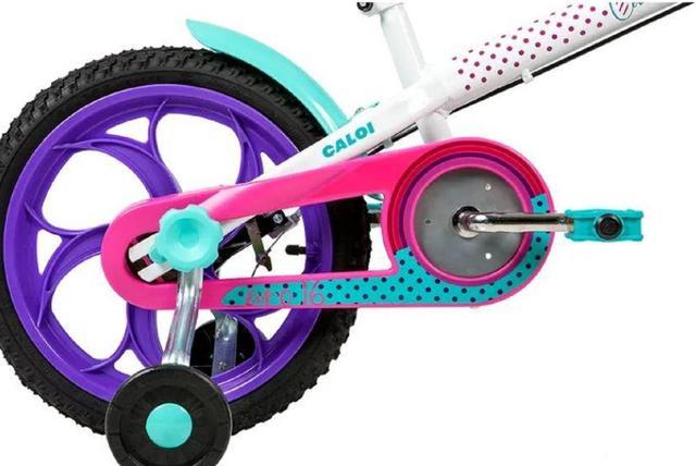 Imagem de Bicicleta Infantil Caloi Ceci Aro 16 - Branco