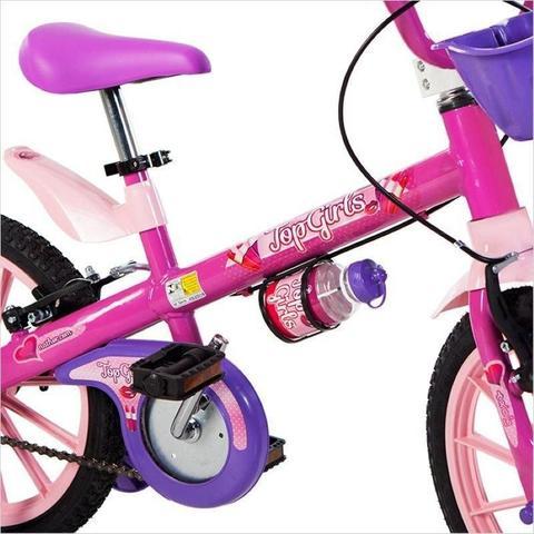 Imagem de Bicicleta Infantil Menina 5 A 8 Anos Aro 16 Top Girls Nathor