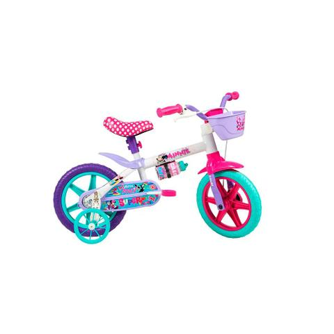 Imagem de Bicicleta Infantil Minnie Aro 12 Branca - Caloi