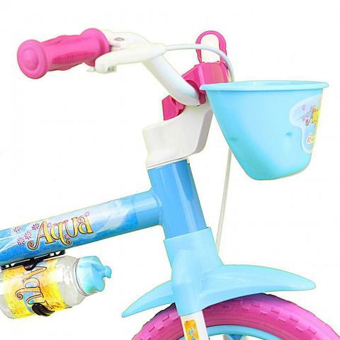 Imagem de Bicicleta Infantil Nathor Aqua Aro 12 Feminina Azul Rosa