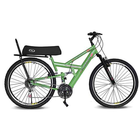 Imagem de Bicicleta Kyklos Aro 26 Caballu 7.7 Rebaixada 21 M A-36 com Selim Banana Verde