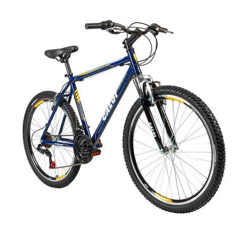 Imagem de Bicicleta Lazer Caloi Commander Aro 26 - Quadro Alumínio - 21 Velocidades - Azul