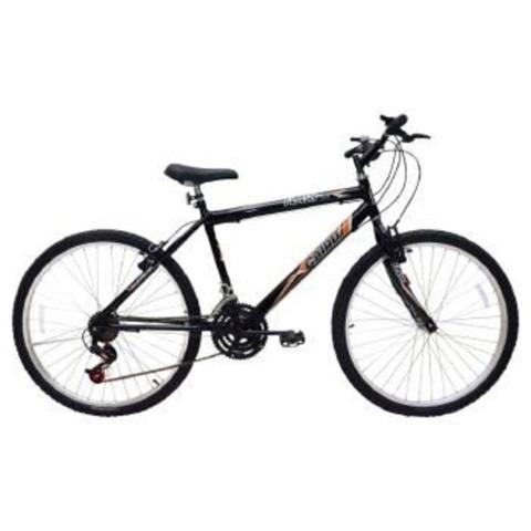 Imagem de Bicicleta Masculina Aro 26 21 Marchas Flash Pop Bike Freio V-break