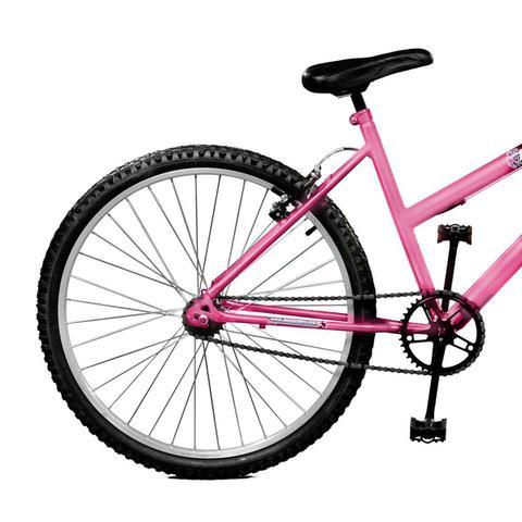 Imagem de Bicicleta Master Bike Aro 26 Feline Freio V-Brake Rosa/Branco
