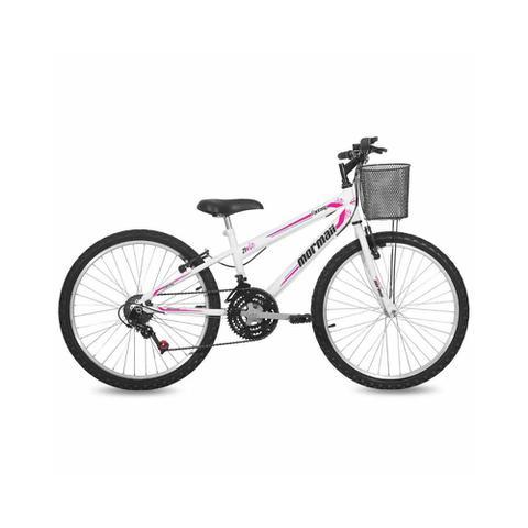 Imagem de Bicicleta Mormaii Aro 24 Fantasy 21V C18 com Cesta