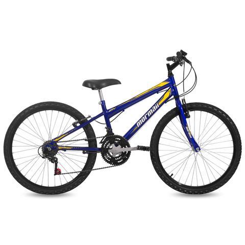 Imagem de Bicicleta Mormaii Aro 24 New Wave 21V C18  Azul