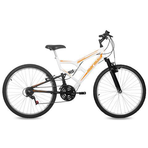 Imagem de Bicicleta Mormaii Aro 26 FULLSION 18V C18 Branco/Preto
