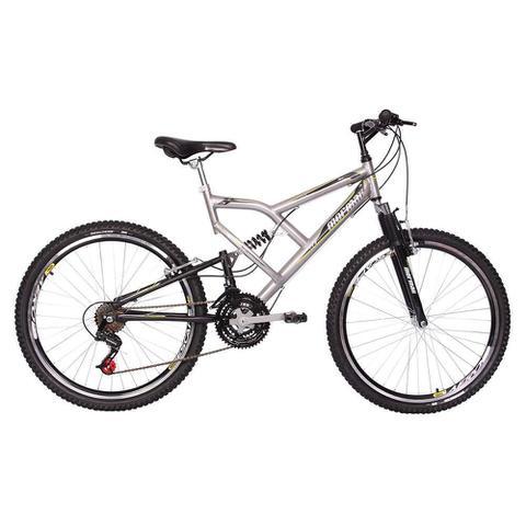 Bicicleta Mormaii Big Rider Aro 26 Full Suspensão 21 Marchas - Branco