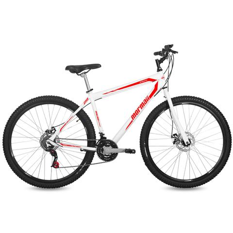 Imagem de Bicicleta Mormaii Aro 29 Jaws Disk Brake 21V C18  Branca/Verm