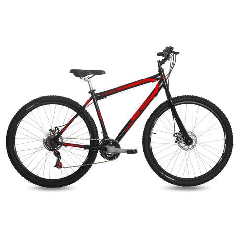 Imagem de Bicicleta Mormaii Aro 29 Jaws Disk Brake 21V C18  Preto Brilhante/Verm