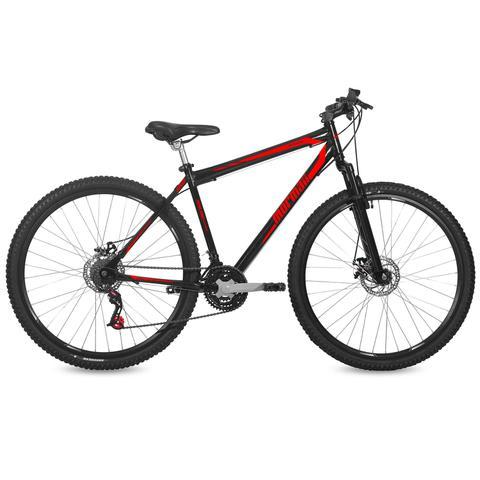 Imagem de Bicicleta Mormaii Aro 29 Jaws Disk Brake Susp 21V C18  Preto Brilhante/Verm