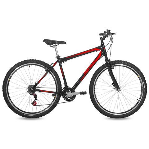 Imagem de Bicicleta Mormaii Aro 29 Jaws V-Brake 21V C18  Preto Brilhante/Verm