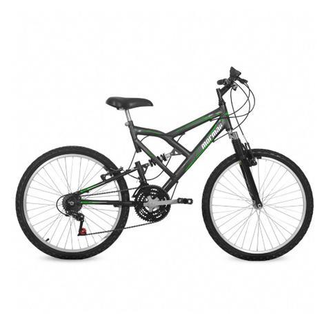 Bicicleta Mormaii Big Rider Aro 24 Full Suspensão 21 Marchas - Cinza
