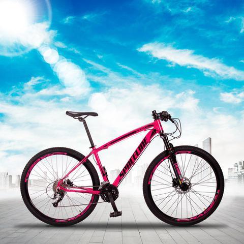 Imagem de Bicicleta MTB Aro 29 Quadro 17 Alumínio 27 Marchas Freio Hidráulico Vega Rosa - Spaceline