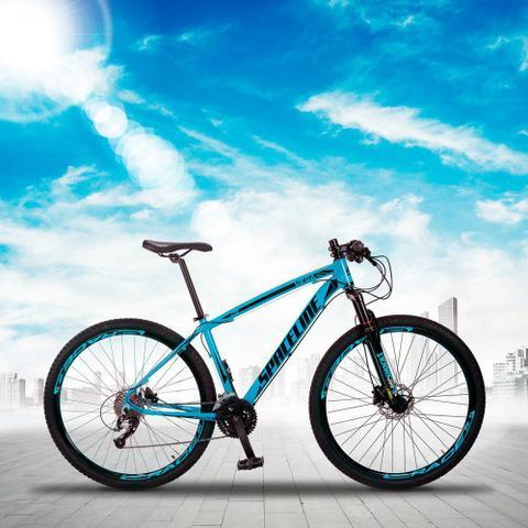Imagem de Bicicleta MTB Aro 29 Quadro 19 Alumínio 27 Marchas Freio Hidráulico Vega Azul - Spaceline