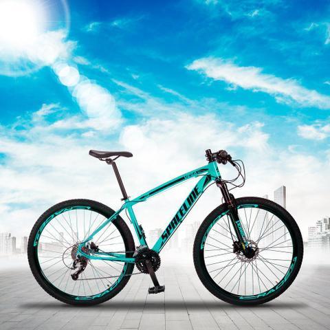 Imagem de Bicicleta MTB Aro 29 Quadro 21 Alumínio 27 Marchas Freio Hidráulico Vega Verde Anis - Spaceline