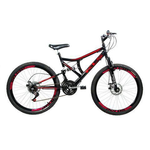 Imagem de Bicicleta Mtb Kls Full Suspension Gold Aro 26 Freio Disco 21 Marchas