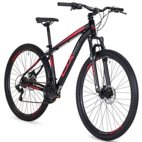 Imagem de Bicicleta mtb oggi hard glide aro 29 freio a disco 2018 - preto e vermelho