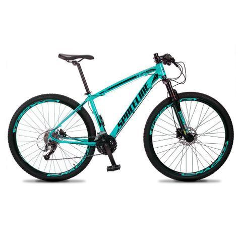 Bicicleta Spaceline Vega Aro 29 Susp. Dianteira 27 Marchas - Preto/verde