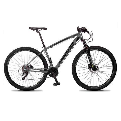 Bicicleta Spaceline Vega Aro 29 Susp. Dianteira 27 Marchas - Cinza/preto