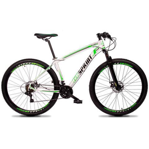 Bicicleta Gt Sprint Volcon Aro 29 Susp. Dianteira 21 Marchas - Branco/verde