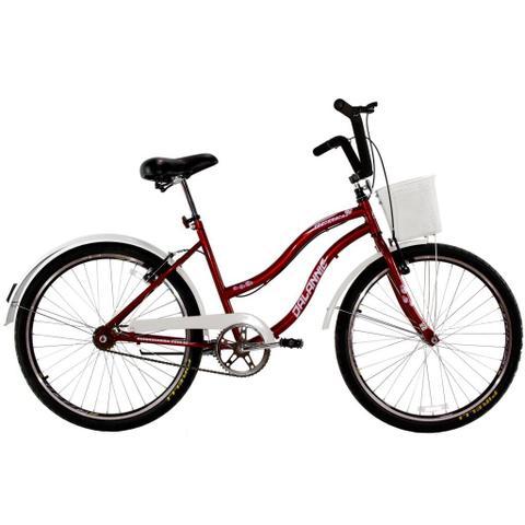 Bicicleta Dalannio Bike Retrô Aro 26 Rígida 1 Marcha - Vermelho