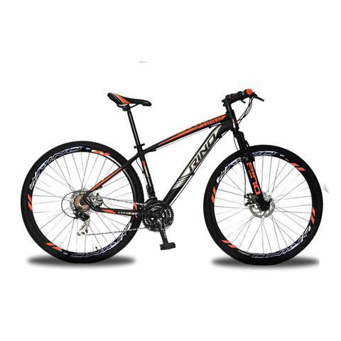 Bicicleta Rino Everest T17 Aro 29 Susp. Dianteira 21 Marchas - Laranja/preto