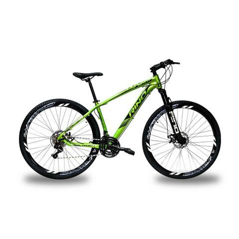 Bicicleta Rino Everest T19 Aro 29 Susp. Dianteira 24 Marchas - Verde
