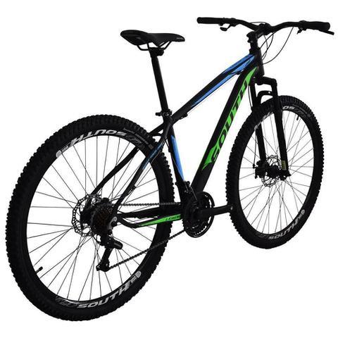 Imagem de Bicicleta SOUTH BIKE Alumínio 21 Velocidades Aro 29 Câmbio Shimano Preto, Azul e Verde Q19
