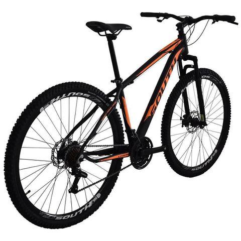 Imagem de Bicicleta SOUTH BIKE Alumínio 21 Velocidades Aro 29 Câmbio Shimano Preto e Laranja Q17