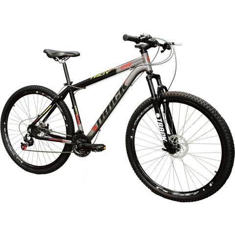 Imagem de Bicicleta Track Troy 29G Aro 29 Alumínio com 21 Marchas  Grafite e Preta