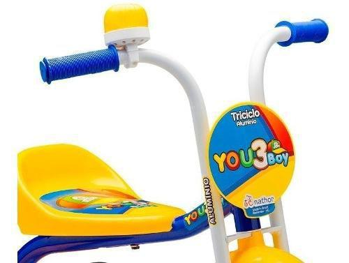 Imagem de Bicicleta Triciclo Infantil Nathor Masculina You 3 Boy Aro 5
