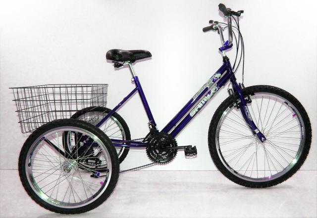Imagem de Bicicleta Triciclo Luxo Aro 26 Completo 21 Marchas Rebaixado