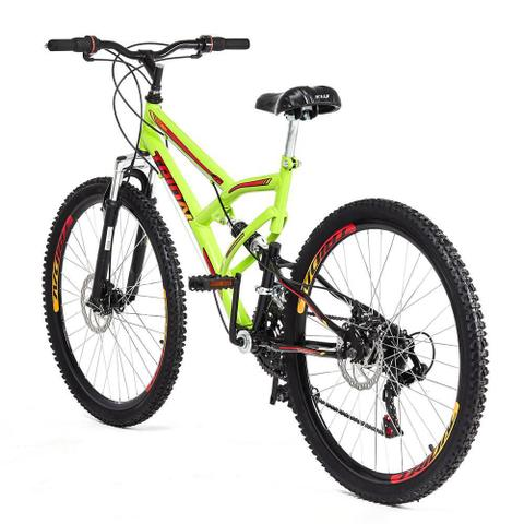 Imagem de Bicicleta Tridal Full Suspensão aro 26 36 Raios Freios a Disco