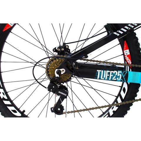 Imagem de Bicicleta Viking X TUFF25  Freeride Aro 26 Freio a Disco 21 Velocidades Cambios Shimano Preto Azul Vikingx