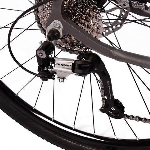 Imagem de Bicicleta Z7-X Quadro 19 Aro 29 Alumínio 27v Suspensão Trava Freio Hidráulico Cinza Anis - Dropp