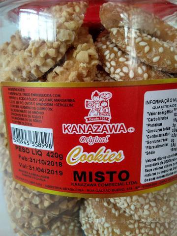 Imagem de Bicoito Cookie Misto Amendoim/Gergelim Pote 420g- Kanazawa