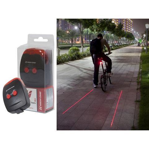 Imagem de Bike light high one 2 laser 3 leds ciclovia virtual