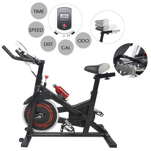 Imagem de Bike spinning bicicleta ergometrica com ciclo computador digital 120kg profissional