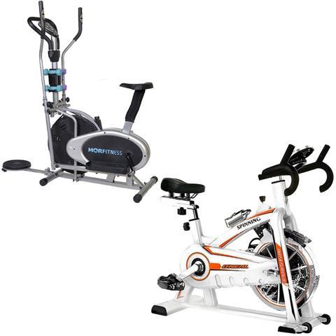 Imagem de Bike Spinning ONeal TP1100 Semi Profissional + Bicicleta Ergométrica Elíptica MOR