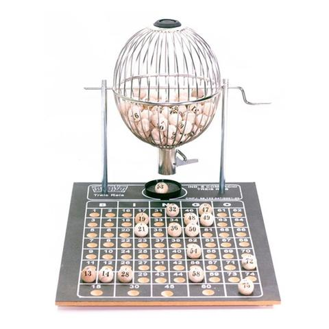 Imagem de Bingo Globo Cromado Nº2 Completo C/ 200 Cartelas