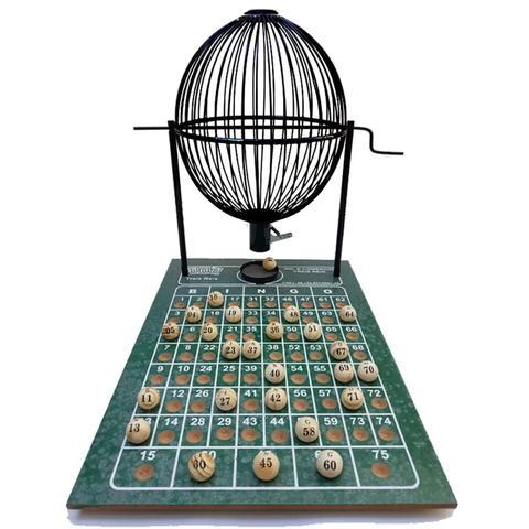 Imagem de Bingo Profissional Grande Nº3 Globo Preto com 200 Cartelas Inclusas
