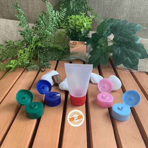 Imagem de Bisnaga Plástica Transparente 30ml C/ Tampa Flip Top (50 Peças)