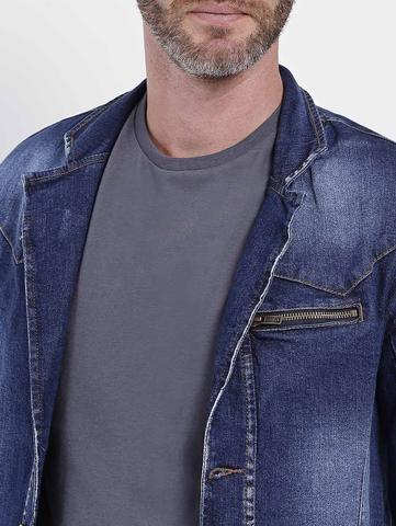 Imagem de Blazer Jeans Slim Masculino Azul