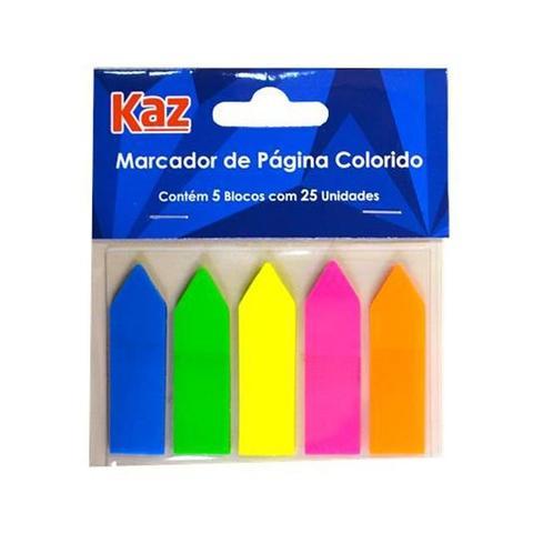 Imagem de Bloco Adesivo KAZ Flags Seta Neon KZ4400
