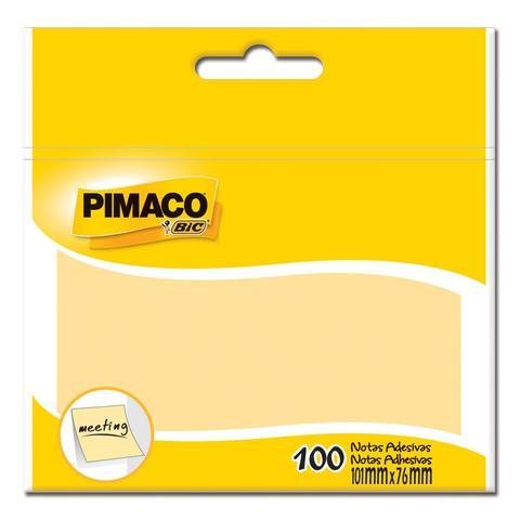 Imagem de Bloco Adesivo Pimaco  Notas Adesiva 076 x 101 mm  Amarelo 886353