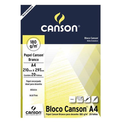 Imagem de Bloco Canson Desenho Branco 180g/m² A4 210 x 297 mm com 20 Folhas  66667164