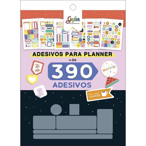 Imagem de Bloco de Adesivos Decorados para Planners Grafons 12 folhas