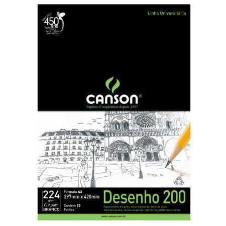 Imagem de Bloco desenho branco A3 200g - com 20 folhas - Canson
